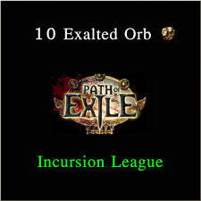 Path of Exile 10 x Exalted Orb PoE Currency Incursion League Softcore SC NA PC