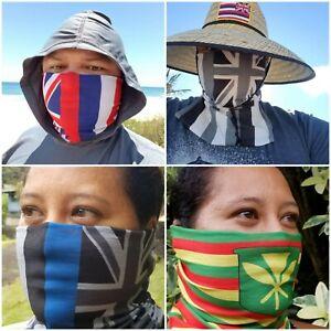 Hawaiian Pride Face and Neck Scarf Buff Balaclava Gaiter Mask