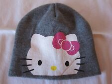 HELLO KITTY GRAY SKULL CAP, ONE SIZE, New without tags