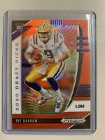 2020 Panini Prizm Draft Picks Joe Burrow Orange Refractor RC Rookie SP #105