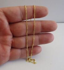 ITALIAN MADE 18K YELLOW GOLD OVER 925 STERLING SILVER ROLO CHAIN / 18'' LONG
