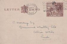 More details for 23 april 1924 1 1/2d wembley exhibition letter card wembley park cancel fdi