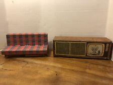 Vtg Barbie Cardboard Furniture 1962 Sofa, Stereo