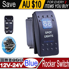 ROCKER SWITCH SPOT LIGHTS BLUE LED for TOYOTA Hilux Landcruiser 12V 20A 24V 10A