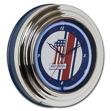 Harley-Davidson #1 Racing Logo Neon Clock