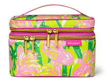 Lilly Pulitzer for Target Double Zip Cosmetic Train Case Fan Dance Print Nwt