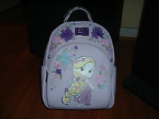 LOUNGEFLY DISNEY TANGLED 3D FLORAL MINI BACKPACK~ WITH TAGS~BRAND NEW~ PINK~