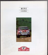Rover Mini Cooper Monte Carlo Pack 1994 UK Market Foldout Sales Brochure