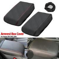 Car Arm Rest Center Armrest Box Cover Protection Leather For Honda CRV 2012-2016