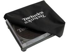 Technics Ltd Edition Turntable Deck Cover: Dark & Light Silver Embroidered Logos