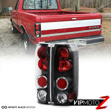 1989-1996 Ford Bronco F150 F250 F350 Super Duty Black Red Rear Tail Lights Lamps