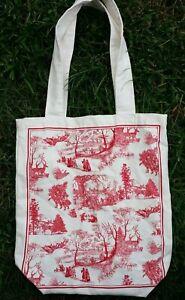 MICHEL DESIGN WORKS Christmas Wonderland French Market Bag Designer Tote