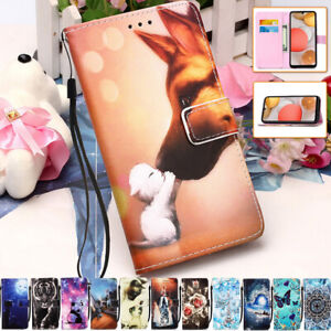 For Samsung Galaxy A12 A21S A32 A42 A02S A51 A71 Leather Flip Wallet Case Cover