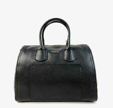 Furla Satchel Large Pebble Leather Alba Handbag (Black)