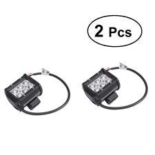 2X 18W Phare de Travail Cree Barre LED Feux Projecteur Offroad 4x4 12V 24V
