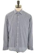 GANT Mens Shirt Medium Navy Blue Bengal Stripe Cotton