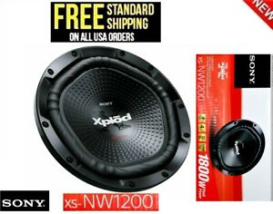 "Sony XS-NW1200 Xplod 12"" SUB 1800 Watt Max 4-ohm Single Coil Car Subwoofer- NEW"
