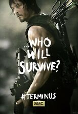Poster A3 The Walking Dead Daryl Dixon Who Will Survive Serie Cartel TWD 01