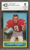 1963 topps #155 LARRY WILSON st louis cardinals BGS BCCG 9