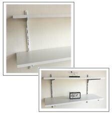 Wandregal 50cm hoch 2 Ablagen 100x30 Holz Dekor weiss /Stahl ELEMENT in 2 Farben