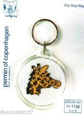 Permin Kit Broderie Point de Croix Compté avec Porte clé Motif Girafe 11-1136