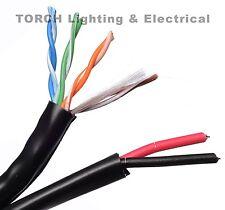 BELDEN SIAMESE C5E 24/4-16/2 NS BLACK CABLE 5288US 0101000 Wire 24AWG CAT5E WIRE