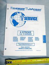 Johnson Evinrude 9.9HP, 15HP 4 Stroke Outboard Boat Motor Parts Catalog, 437470