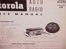 "1952 IH INTERNATIONAL HARVESTER ""L"" LINE TRUCK MOTOROLA AM RADIO SERVICE MANUAL"