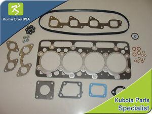 New Kubota V2003 Upper Gasket Kit