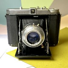 Vintage Dacora Folding 120 Camera w/ Prontor-s Shutter Ennar 75mm f/3.5 Lens