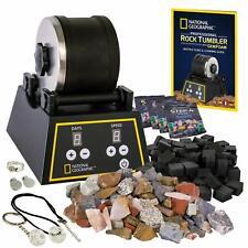 National Geographic Professional Rock Tumbler Kit 2lb Barrel 1lb GEMSTONE 4 Grit