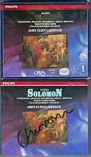 John Eliot GARDINER Signed HANDEL SOLOMON Watkinson Argenta Hendricks Varcoe 2CD