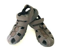 Teva Forebay Sandals Mens 12 Brown Leather Sport Hiking Outdoor ShocPad Shoes