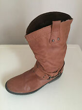 Women Next Ankle Soft Leather  boots Tan Size 5