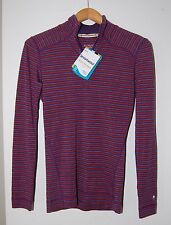NWT Smartwool Women's NTS 250 Base Layer Zip Top, Stripe Pattern, Small