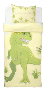 IKEA Dinosaurs Tyrannosaurus Rex Triceratops Duvet Cover Bed Set Bedding SINGLE