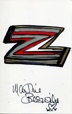 007 Bond girl Martine Beswick signed & drawn art doodle 'Letter Z'