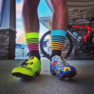 Men Women Outdoor Sports Racing Cycling Socks Breathable Bike Socks 13UK