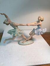 HUTSCHENREUTHER KARL TUTTER 2) DANCING GIRLS FIGURINE COLOR
