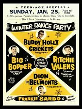 """Buddy Holly Winter Dance Party 16"""" x 12"""" Photo Repro Concert Poster"""