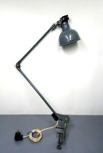 Rademacher Gelenkarmlampe Werkstattlampe Industrielampe Bauhaus Design Lamp