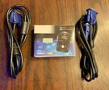 IeGeek Kvm Switch Box 2 Port Pc Monitor Switches + Vga Cables For Monitor