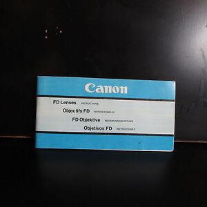 Used Canon FD Manual Focus Lenses Guide O401831