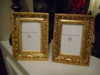 Hotel Balfour Wooden Gold Ornate Picture Frames 4 x 6 Photo Set 2 Beautiful!