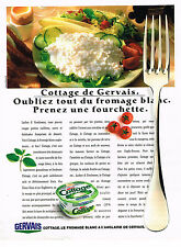 PUBLICITE ADVERTISING 074  1988  GERVAIS  fromage blanc à l'Anglaise COTTAGE