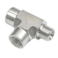 "HFS(R) 1/4"" Npt Tee Fitting - Female - Female - Male - 3-Way Tee Stainless"