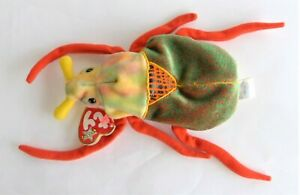 Ty Beanie Babies Plush Soft Toy Scurry the Beetle 16 cm With Tag 2000