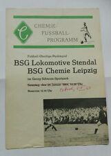 Programm BSG Chemie Leipzig BSG Lok Stendal 26.01.1965/5.3.64 DDR Oberliga