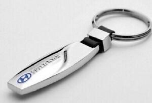 HYUNDAI Keyring NEW UK Seller - Silver Black Car Key Ring KeyChain Bullet Shape