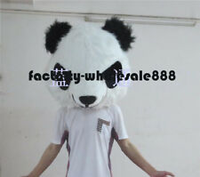 Halloween Accessory  Long Fur Panda head Mascot Costume just Head Cartoon Lover